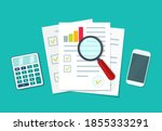 audit icon. financial research... | Shutterstock .eps vector #1855333291