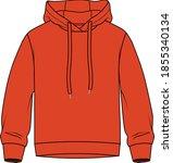 kids flat sketch sweatshirt... | Shutterstock .eps vector #1855340134