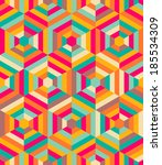 hexagon mosaic pattern   Shutterstock .eps vector #185534309