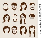 set of flat human icons. | Shutterstock .eps vector #185534321