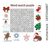 find words in a table on the... | Shutterstock .eps vector #1855346887