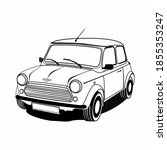 Old Classic Car Vector...