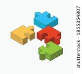 puzzle icon design  vector... | Shutterstock .eps vector #1855354807