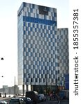 Small photo of Helsinki, Finland -11-12-2020: The Clarion Hotel in Helsinki, an exciting meeting place that's 78 metres high.