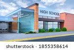 reading hall in school. 3d...   Shutterstock . vector #1855358614