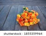 A Bouquet Of Bright Orange...