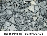 Crushed Stone. Gravel Texture...