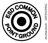esd common point ground symbol... | Shutterstock .eps vector #1855410961