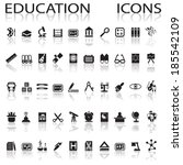 education icons | Shutterstock .eps vector #185542109