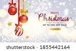 modern merry christmas and new... | Shutterstock .eps vector #1855442164