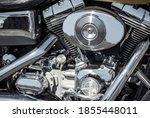 Motorcycle Engine Chrome Block...