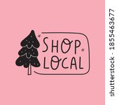shop local. badge with icon of... | Shutterstock .eps vector #1855463677