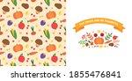 thanksgiving day card. vignette ...   Shutterstock .eps vector #1855476841