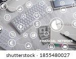 financial network. business ...   Shutterstock . vector #1855480027
