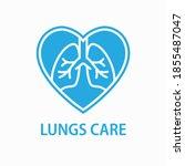 human lungs icon. logo design... | Shutterstock .eps vector #1855487047