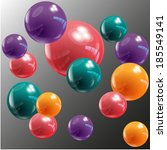 vector color balls on background | Shutterstock .eps vector #185549141