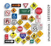 illustration of various road... | Shutterstock .eps vector #185550029