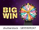 big win banner. realistic... | Shutterstock .eps vector #1855509247