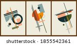 a set of three colorful...   Shutterstock .eps vector #1855542361