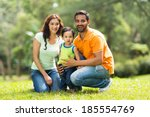 portrait of happy indian family ... | Shutterstock . vector #185554769