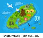 isometric jeju island  south... | Shutterstock .eps vector #1855568107