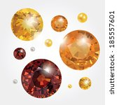 golden gemstones | Shutterstock . vector #185557601