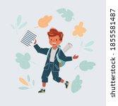 cartoon vector illustration of... | Shutterstock .eps vector #1855581487