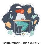cartoon vector illustration of... | Shutterstock .eps vector #1855581517