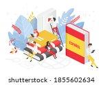 online spanish language courses ...   Shutterstock .eps vector #1855602634