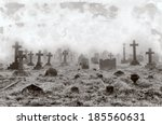 vintage effect of creepy a... | Shutterstock . vector #185560631
