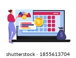 personal budget planning or... | Shutterstock .eps vector #1855613704