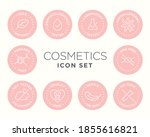 cosmetics round isolated... | Shutterstock .eps vector #1855616821