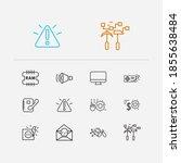 electronics icons set. data...