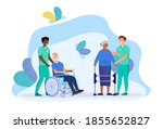 elderly people care. concept of ...   Shutterstock .eps vector #1855652827