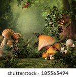 Fantasy Image With Mushroom An...