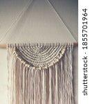 handmade wall hanging white... | Shutterstock . vector #1855701964
