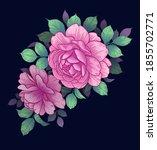 vector elegant floral... | Shutterstock .eps vector #1855702771