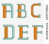 colorful alphabet letters a  b  ...