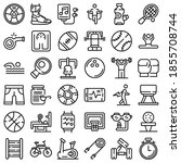 physical activity icons set.... | Shutterstock .eps vector #1855708744
