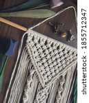 handmade wooden wall hanging... | Shutterstock . vector #1855712347