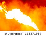 flames or fire with smoke on... | Shutterstock . vector #185571959