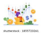 trader working illustration...   Shutterstock .eps vector #1855723261