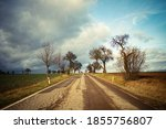empty asphalt road with clouds...   Shutterstock . vector #1855756807