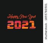 2021 happy new year kids... | Shutterstock .eps vector #1855783501