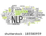 word cloud with nlp related tags | Shutterstock . vector #185580959