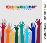 world human rights day with... | Shutterstock .eps vector #1855814461