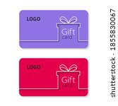 gift card vector illustration... | Shutterstock .eps vector #1855830067