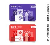 gift card template. vector... | Shutterstock .eps vector #1855830097