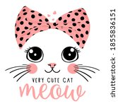 Typography Slogan With Cute Cat ...