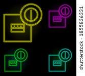 electrical box neon color set...